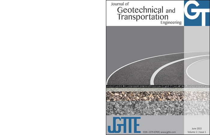 The Journal of Geotechnical and Transportation Engineering covers the broad areas of practice known as geotechnical engineering and transportation engineering. Papers are welcomed on topics such as foundations, retaining structures, soil dynamics, engineering behavior of soil and rock, site characterization, slope stability, dams, rock engineering, earthquake engineering, environmental geotechnics, geosynthetics, computer modeling, groundwater monitoring and restoration, geomechanics, and coastal and geotechnical ocean engineering, Traffic Flow, Travel Time, Origin Destination, Traffic Assignment, Route Choice, User Equilibrium, Road Network, Transportation Networks, Mode Choice, Real Time, Travel Behavior, Network Design, Case Study, Satisfiability, Traffic Control, Land Use, Transport System, Travel Cost, Public Transport, Discrete Choice Model, Dynamic Traffic Assignment, Multinomial Logit Model, Network Equilibrium, Data Collection, Mathematical Programming, Time Varying, Mathematical Model, Logit Model, Multinomial Logit, Choice Models, Energy Conservation, Discrete Choice, Traffic Congestion, Time Dependent, Genetic Algorithm, Simulation Model, Level of Service, Decision Making, Intelligent Transport System, Urban Area, Assignment Problem, Sensitivity Analysis, Cell Transmission Model, Heuristic Algorithm, Objective Function, Mixed Logit Model, Congestion Pricing, Transportation Planning, Large Scale, San Francisco Bay, Traffic Model, Optimization Problem, Probit Model, Waiting Time, United States, Stated Preference, Computer Experiment, Flow Pattern, Nested Logit Model, Motor Vehicles, Utility Function, Transport Policy, Indexation, Cost Function, Container Terminal, Computer Simulation, Mixed Logit, Time Window, Cost Effectiveness, Utility Maximization, Empirical Evidence, Traffic Management, Freight Transport, Variational Inequality, Prediction Model, Traffic Simulation, Continuum Model, Urban Transport, Ramp Metering, Road Pricing, Bilevel Programming, Empirical Analysis, Vehicle Routing, Capacity Constraint, Model Development, Linear Program, Information System, Mixed Integer Program, Generic Model, Optimal Solution, Network Flow, cumulant, Nested Logit, Value of Time, Real-time Traffic, Parameter Estimation, Geographic Information System, Transport Service, Traffic Flow Model, Road Traffic, , Steady State, Numerical Experiment, Maximum Simulated Likelihood, Land Use Planning, Network Performance, Neural Network, Differential Equation, Built Environment, Network Traffic, First Order, Flexible Pavement, Equilibrium Problem, First In First Out, Random Utility, Shortest Path, Asphalt Concrete, Performance Measure, Advanced Traveler Information System, Hot Mix Asphalt, Optimal Control, Time Use, Decision Process, Network Model, Efficient Algorithm, Revealed Preference, Fuel Consumption, System Performance, Choice Behavior, Oregon, Dynamic Networks, Optimal Routing, Profitability, Higher Order, Empirical Study, Automatic Generation, Model Specification, Hydrodynamic Model, Dynamic Model, Forecasting Model, Difference Equation, Optimality Condition, Discrete Choice Analysis, Stochastic Model, Upper Bound, Estimation Method, Numerical Analysis, Shortest Path Algorithm, Global Position System, Dynamic System, kalman filter, Complex Network, dial a ride problem, Urban Form, Computational Efficiency, Stated Choice, Scheduling Problem, Environmental Impact, Time Series, Discrete Model, Boundary Condition, Cost Saving, Alternative Fuel, Random Sequence, Parallel Computer, Multi Dimensional, Time Constraint, Transport Costs, Model System, Extreme Value, Location Choice, Analytical Model, Partial Differential Equation, Management System, Spatial Distribution, Control Strategy, Service Quality, Likelihood Funct,ion Data Fitting, Artificial Ne,ural Network Continuous Time, Microscopic Traf,fic Simulation Generalized Extreme Value, Traffic Safety, Generalized Least Squares, Time of Day, Control System, Statistical Model, Lagrangian Relaxation, Driver Behavior, Three Dimensional, Stochastic Process, Traffic Accident, Measurement Error, Older Driver, Shortest Path Problem, Service Level, Duration Model, Numerical Simulation, Second Order, Monte Carlo Method,  Probability Distribution, Prior Information, Network Optimization, Weather Condition, Unobserved Heterogeneity, Performance Evaluation, Optimal Method, Functional Form, Activity Pattern, Standard Deviation, Discrete Time, Theoretical Framework, Stochastic Networks, Random Utility Model, Field Data, Maximum Likelihood, Optimization Model, Pickup and Delivery Problem With Time Windows, Theoretical Model, Air Quality, Survey Data, Central Business District, Simulation Technique, Recursive Estimation, Statistical Significance, Gravity Model, Nonlinear Programming,   Comparative Analysis, Econometric Model High Density, Quality of Service, Cross Section, Quasi Monte Carlo, Nonparametric Regression, Consumer Behavior, Queue Length, Simulation Experiment, Initial Condition, Social Welfare, Measurement System, Flow Measurement, Los Angeles, Integrable Model, Column Generation, Modeling Technique, tabu search, Willingness To Pay, Distributed Models, Structural Equation Model, Network Capacity, Mixed Integer Linear Program, Utility Theory, Long Distance, Random Variable, Prediction Error, Branch and Bound, Time Allocation, Economies of Scale, Dynamic Program, Developing Country, Point of View, Multiple Discrete Continuous Extreme Value, Highway Capacity Manual, Transport Infrastructure, Transportation Problem, Road Safety, Fixed Point, Consumer Preference, Cellular Automata, Field Study, Shock Wave, puget sound, Heuristic Method, Flow Rate, Location Problem, High Speed, Computer Program, Simulation Estimation, Seasonality, Nash Equilibrium, Decision Making Process, Pickup and Delivery, Vehicle Miles Traveled, Network Structure, Optimal Location, Simulated Annealing, Household Survey, San Francisco, Energy Efficie,nt Model Performance, Cycle Length, Road Construction, Profit Maximization, Finite Difference, Vehicle Routing Problem, Stochastic Dynamics, Automatic Vehicle Location, Approximate Solution, Statistical Method, Reliability Analysis, Performance Index, Independence of Irrelevant Alternatives, High Occupancy Vehicle, North American, Dwell Time, Supply and Demand, Route Selection, Exact Solution, Economic Efficiency, Multi User, Latent Class Model, Demand Response, Structural Properties, Game Theory, Experimental Design, Real Time Systems, Simulation Analysis, Dallas Fort Worth, Numerical Technique, Data Acquisition, Variable Message Signs, Evaluation Framework, Regression Analysis, Decision Support, Variational Inequality Problem, Real World Application, Queuing Networks, Ordered Probit Model, Optimal Scheduling, Time Delay, Demand Analysis, North America, Department of Transportation, Decision Maker, Vehicle Miles of Travel, Latent Class, Strategic Planning, Dynamic Routing, Air Pollution, Transit Oriented Development, Spatial Interaction, Compressed Natural Gas, Real Time Control, New Zealand, Decision Support System, Pilot Study, Location Model, Light Rail Transit, Low Density, Fuel Economy, Monte Carlo, Economic Benefit, System Dynamics, State Dependence, Maximum Entropy, Bridge Deck, Surveillance System, Monte Carlo Simulation, Fixed Time, Integer Program, Driving Simulator, Input Output, Numerical Method, Network Reliability, Network Analysis, Negative Binomial, Information Service, Resource Allocation, Regression Model, Air Transport, Space Time, Exploratory, Analysis, Existence and Uniqueness, Equation of Motion, non-cooperative game, Marginal Cost Pricing, Oscillations, Maximum Likelihood Estimate, Field Experiment, Cross Correlation, Signaling Network, Demand and Supply, Site Selection, Finite Element, Computer Model, Advanced Traffic Management System, Optimal Path, Numerical Solution, High Dimension, Demand Uncertainty, Finite Element Method, Covariance Structure, Computational Complexity, Traffic Prediction, Dynamic Analysis, Risk Aversion, Operant Conditioning, multimodal system, Field Test, Control Problem, Soil mechanics, Rock mechanics, Geotechnical Engineering, site investigation, grain size distribution, soil particles, relative density, Atterburg limits, plastic limits, liquid limits, soil classification, permeability, seepage, total stress, effective stress, capillarity, shear strength, unconfined compression test, glacial soil, organic soil, boring holes, ground water level, ground water table, sampling, vase shear test, cone penetration experiment, bearing capacity, Karl von Terzaghi, safety factor, spread footing, mat foundation, shallow foundation, deep foundation, settlement, elastic, plastic, consolidation, clay, sand, gravel, silt, saturated, unsaturated, partially saturated, strain, Skempton, vertical and horizontal stresses, plate bearing test, loading, allowable, ultimate bearing capacity, lateral load, lateral bearing capacity, active pressure, passive pressure, Rankine, Coulomb, internal friction angle, cohesion, cohesive, cohesionless, granular soil, fine, coarse, retaining wall, cantilever, earthquake, seismic force, Mononobe Okabe, Levee, dams, embankment, failure, sheet pile, anchored plate, numerical modeling, finite element, finite difference, trench, active and passive isolation, boiling, liquefaction, pile, short and long piles, cast in place, driving piles, side friction, Coil Kastelo, bed rock, tip, skin friction, negative friction, tension, bending moment, pull out capacity, pier, collapsible soils, expansive soils, sanitary landfills, land fill, sand stone, ponding, vibr flotation, unrestrained swell, swelling pressure, reinforcement, geosynthetic, geogrid, geotextile, geomembrane, geonet, mohr circle, slope stability, seep, drainage, Bernooulli, hydraulic gradient, Darcy's law, hydraulic conductivity, flow net, principle, structure stability, laboratory test, filter design, undrained, sullry walls, leachate collection, dynamics, vibration, rigid, flexible, normal stress, soil formation, pore pressure, earth retaining structure, soil improvement, soil remediation, FLAC, Ansys, Abaquse, plaxis, matlab, slope w, seep w, geo studio, nonlin, erosion, overtopping, direct shear test, hydrometer, constant head, falling head, CBR, Ottawa sand, Boston blue clay, loose, hard, dense, soft, ground, water, dry, wet, water content, roller, compaction, sand column, geotechnical, geoTechnical, geotechnology, geology, environmental